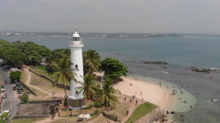fortresses : Lighthouse in fort Galle - Sri Lanka seascape