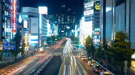 koşuşturma : Street (of stores and houses), hustle and bustle, nishi-shinjuku Stok Video