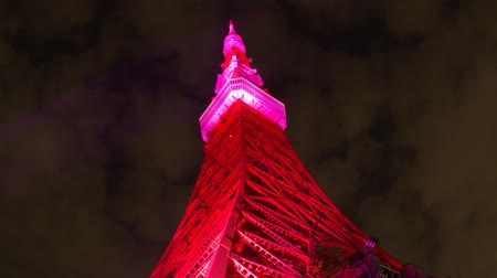 неон : Tokyo Tower light up time laps