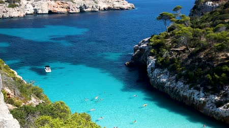 Sunny view of Caló des Moro, Mallorca, Balearic Islands, Spain
