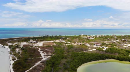 Aerial view of Punta Coco on Isla Holbox, Quintana Roo, Mexico