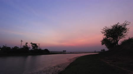goes : Sky Change Colour 1 Timelapse Lahan Lake Chaiyaphum Thailand