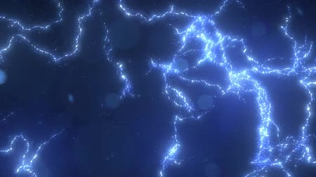 elétrico : Electric Lighting Energy Animation, Blue Color.  Can be used as background or over-layer (blending mode) ex. Add, Overlay, Screen mode. Stock Footage