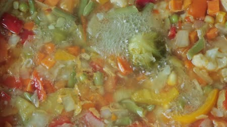 vegetable wok : Delicious colorful vegetable Stock Footage
