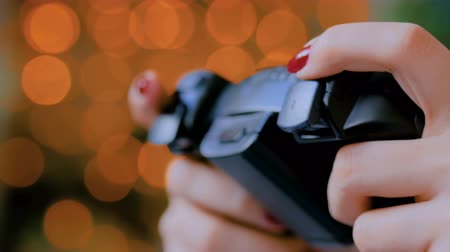 alışkanlık : Christmas, gaming, holiday, celebration and technology concept - woman holding gamepad and playing video games at home