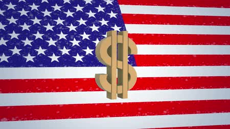 USA 3D animations American dollar